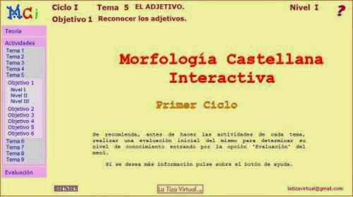 Morfología Castellana Interactiva