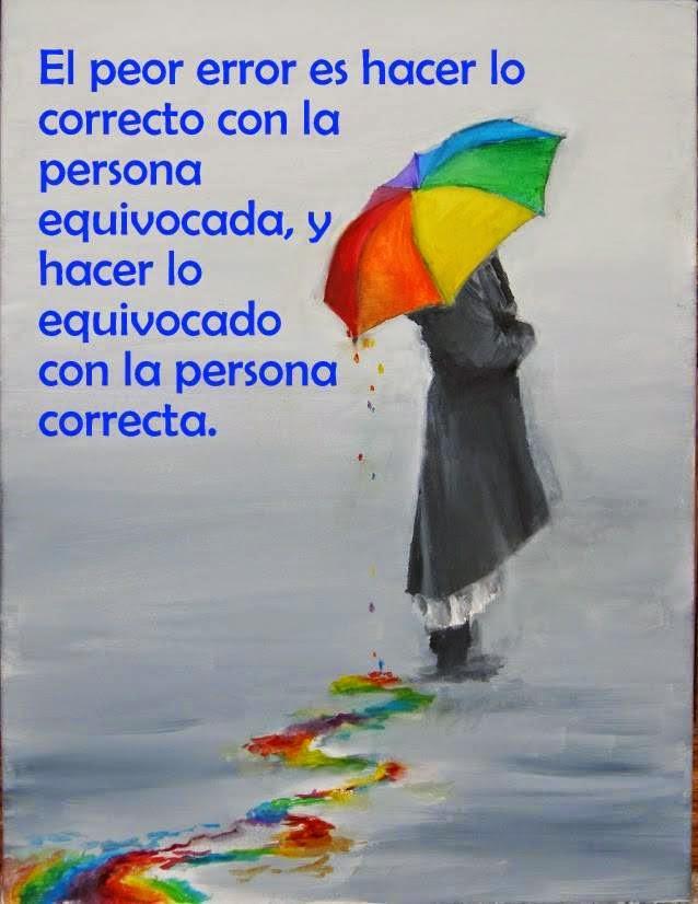 Frases de amor en imágenes, error,correcto,equivocada.