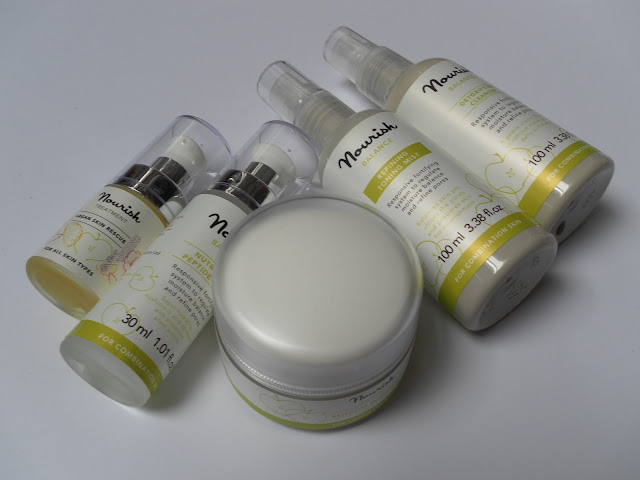 A picture of Nourish Skincare Balance Range for oily and combination skin types