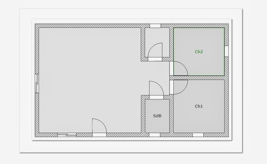 Plan de maison 100m2 gratuit for Plan maison 60m2