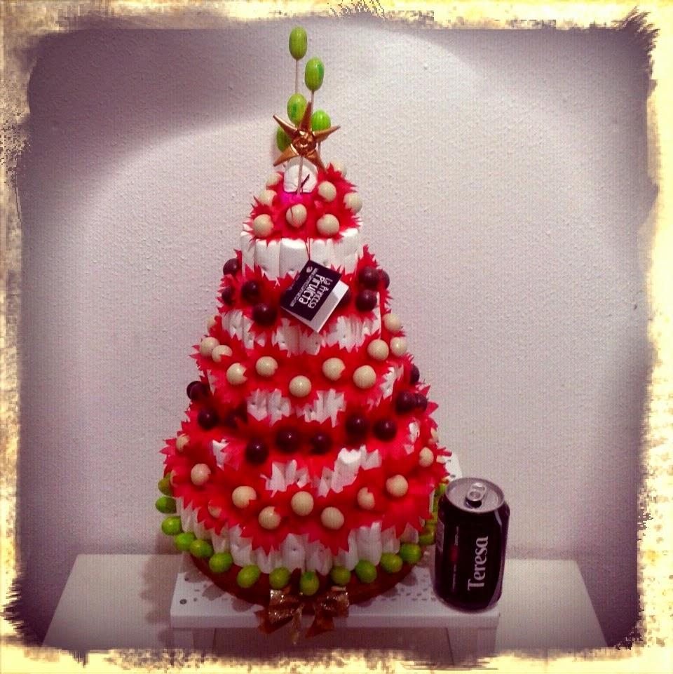 La princesa piruleta tienda de chuches y buffet de for Cesta arbol navidad