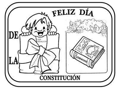 Maestra de Infantil: Fichas para colorear la Constitución Española