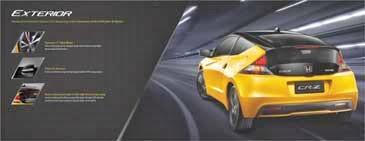 Spesifikasi Eksterior Mobil Honda CRZ