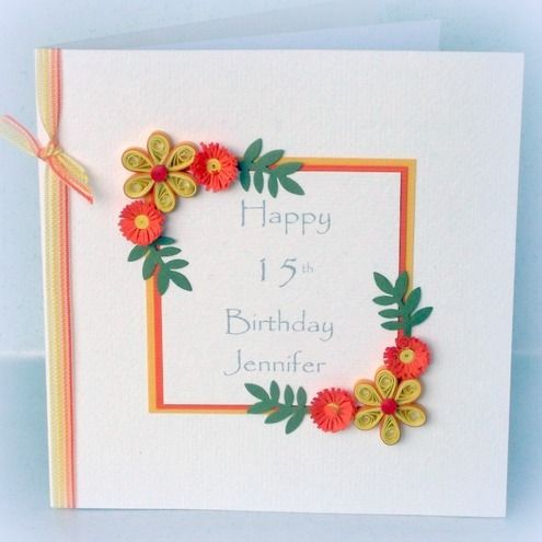 Handmade Quilled Birthday Cards Ideas Ideas Arts And