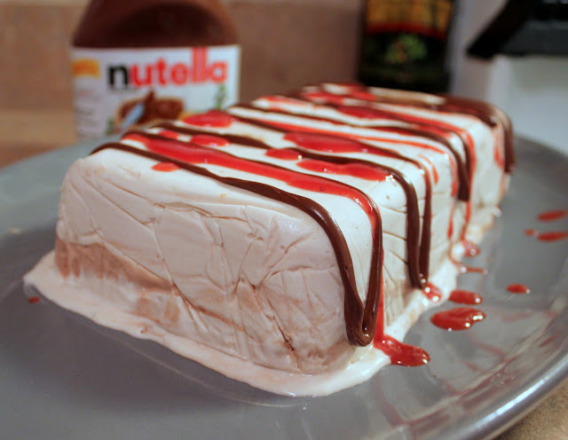 Everything in the Kitchen Sink: Strawberry Nutella Semifreddo