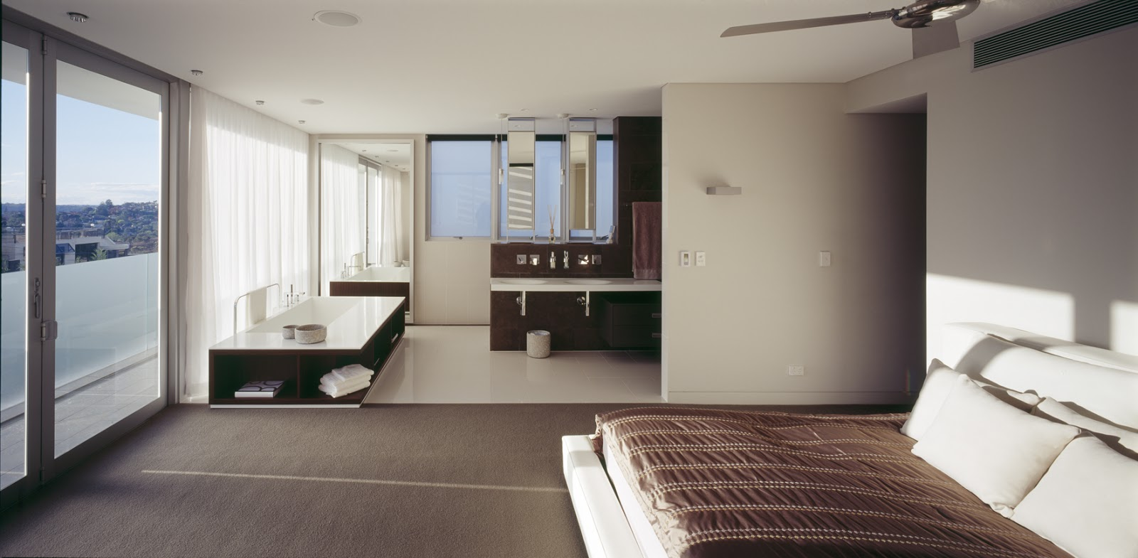 Minosa the open plan ensuite or parents retreat a few tips for Interior design bedroom australia
