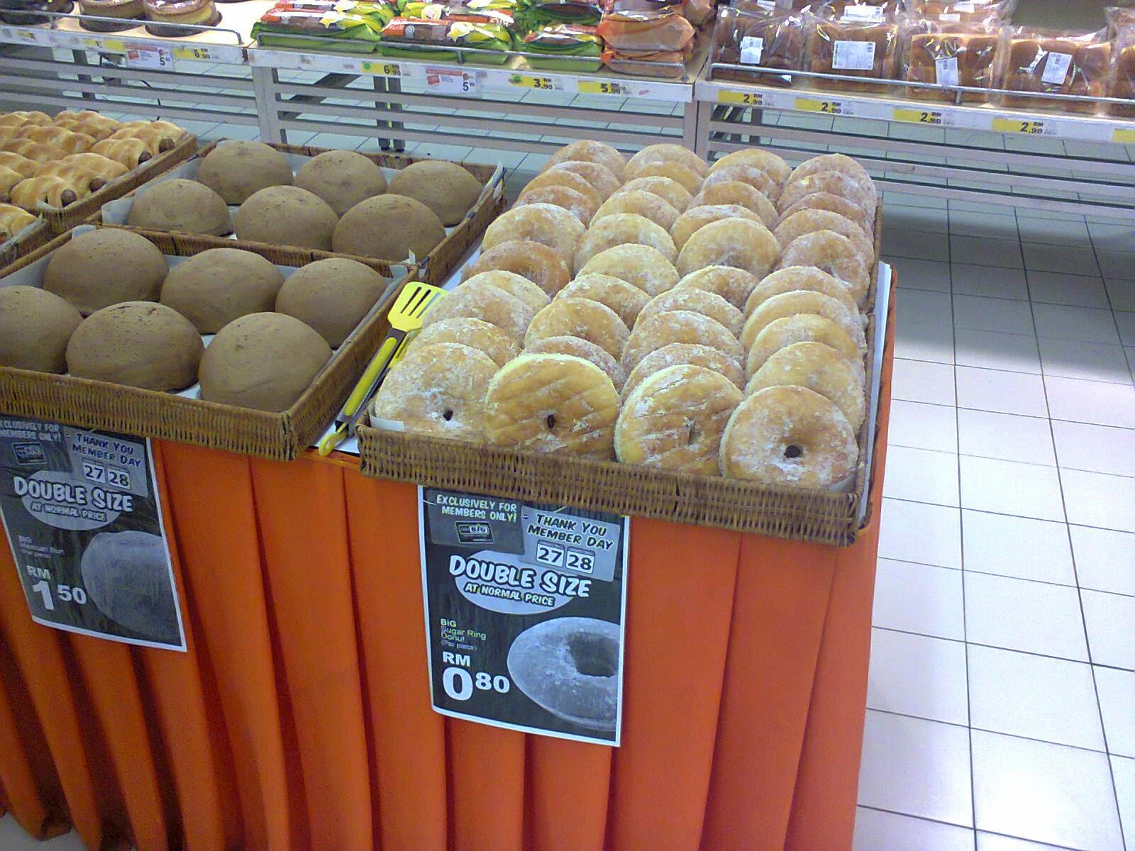 Donut Gergasi hanya RM 0 80