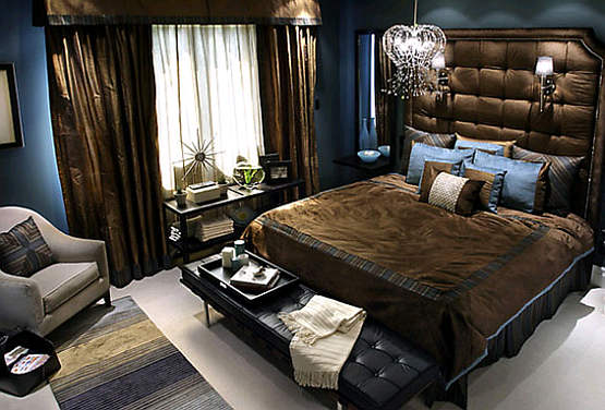 Bedroom Designs Blue And Brown living room design