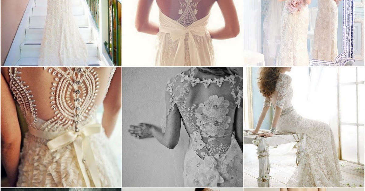 Choose your fashion style charming lace back wedding dresses for No back wedding dress