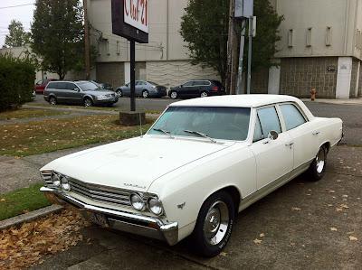 1967 Chevrolet Chevelle Malibu sedan.