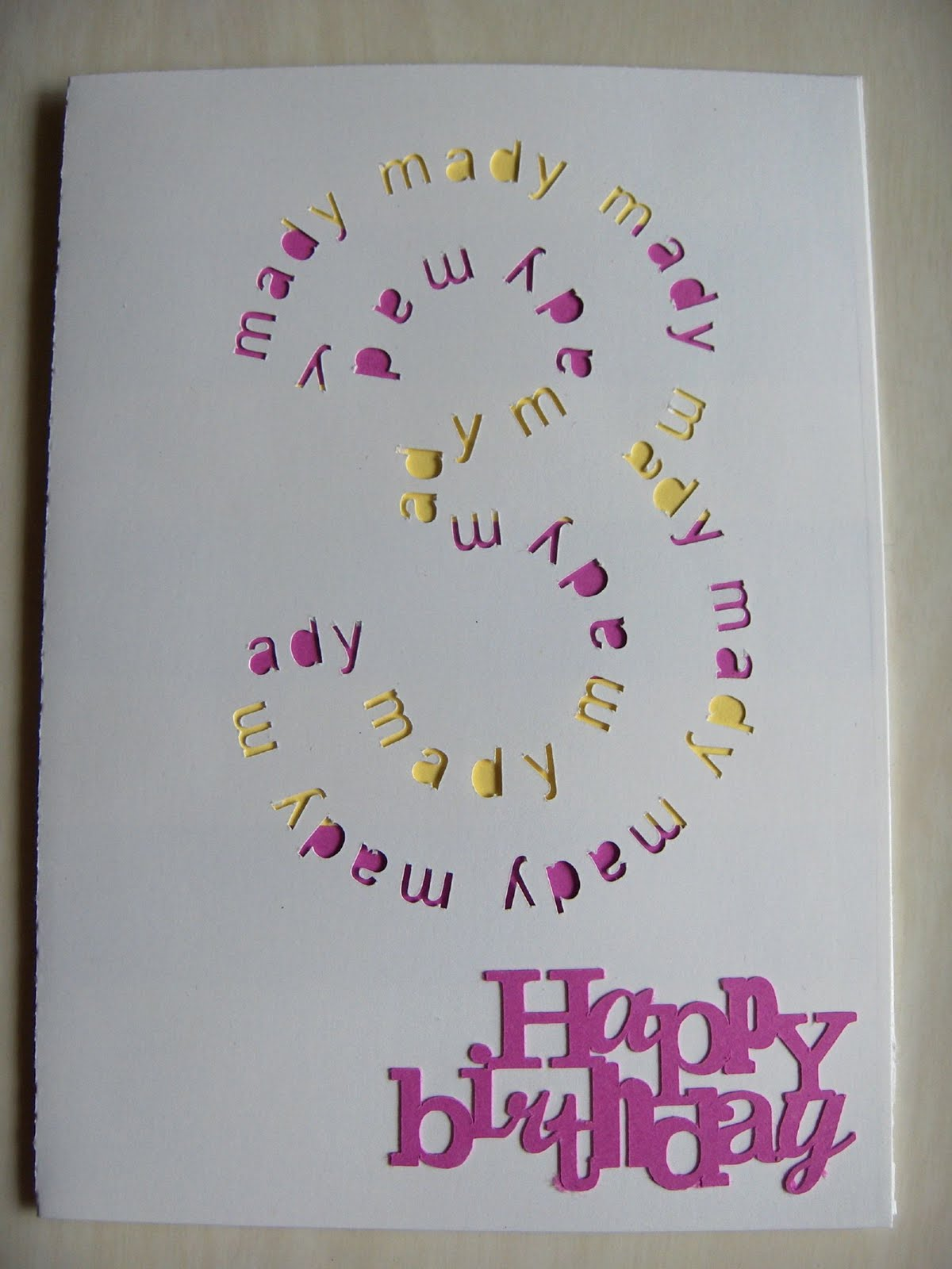 Rhapsody of Cacophony Birthday Card for a Birthday Girl