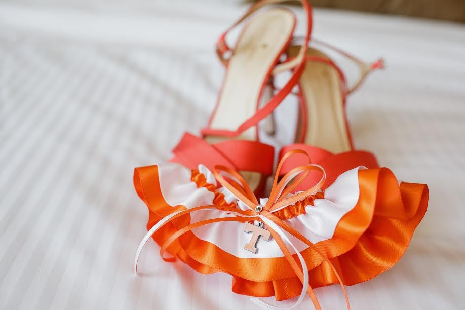 University of Tennessee Volunteers Wedding Garter by Sugarplum Garters