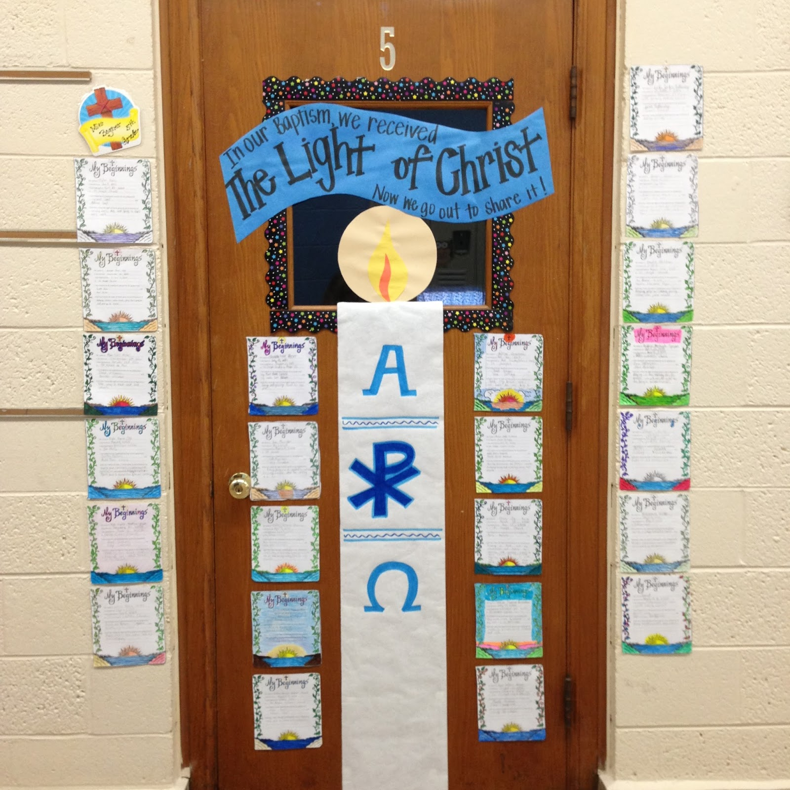 Look to him and be radiant doors to the sacraments baptism i decided to use our door to display the students work and also use it to remind them of the new life that the sacraments offer us a door to grace buycottarizona Gallery