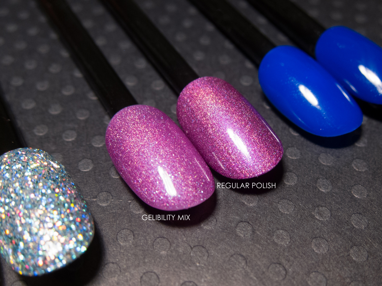 Girly Bits - Ho-Ho-Hope as a gel polish via @chalkboardnails