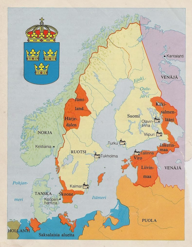 Kabinettskriege Sweden In The Kabinettskriege Era - Map sweden 1650