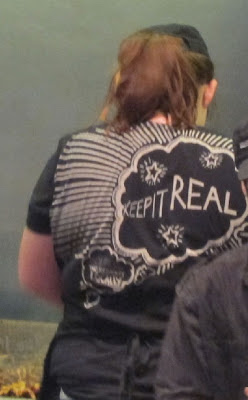 """Chipotle T-shirt """"keep it real"""""""