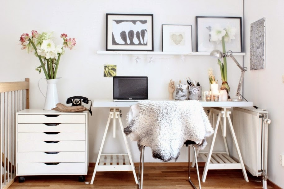 White Bright Home Office