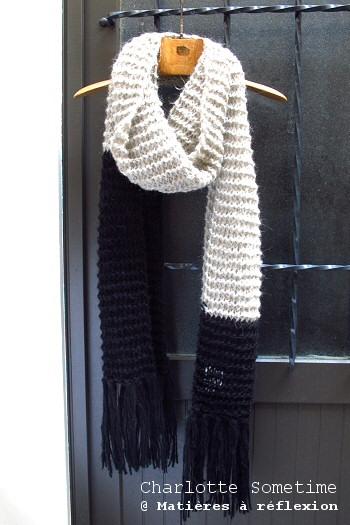 Écharpe tricoté main Charlotte Sometime