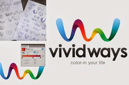 Logo Design Process and Walk-Through for Vivid Ways