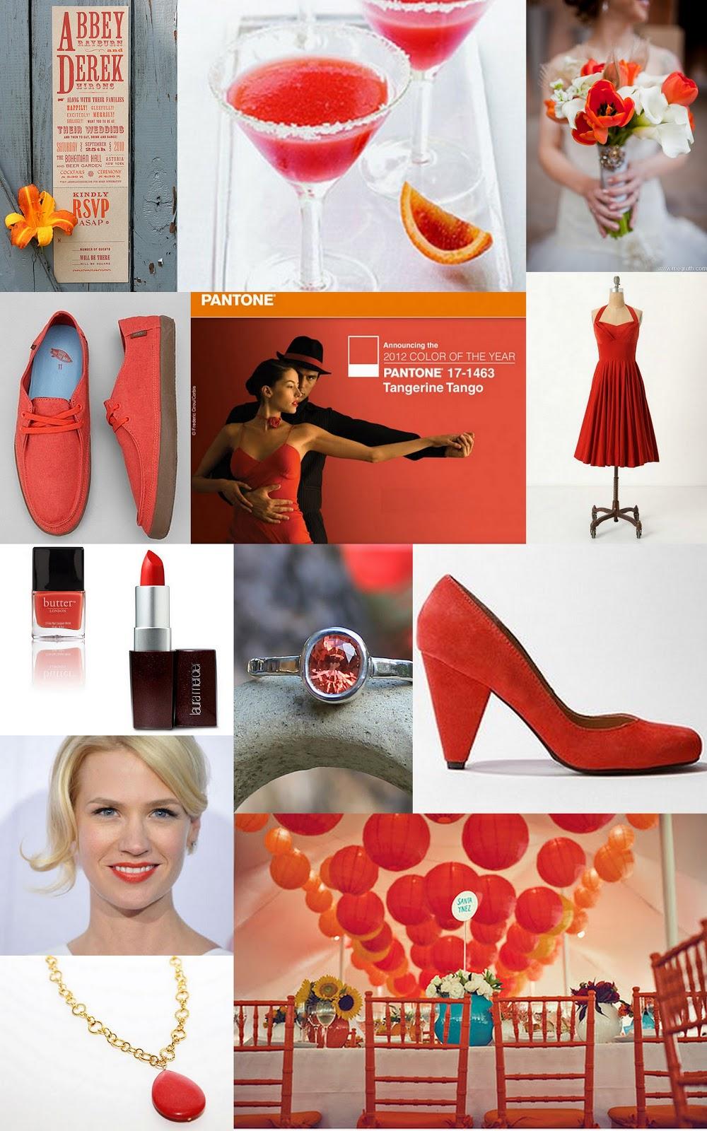 Paper Doll Romance: Color Day: Tangerine Tango