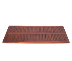 Non Slip Teak Spa Shower Floor Bath Bathroom Mat