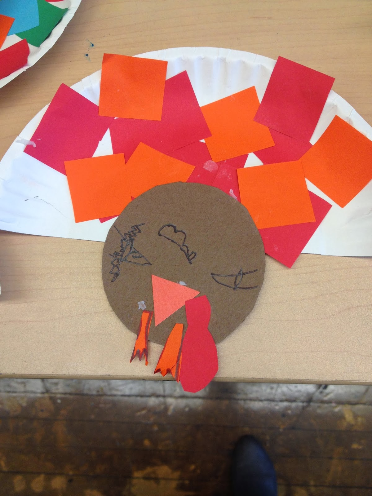 Autism tank turkey craft for Craft ideas for autistic students