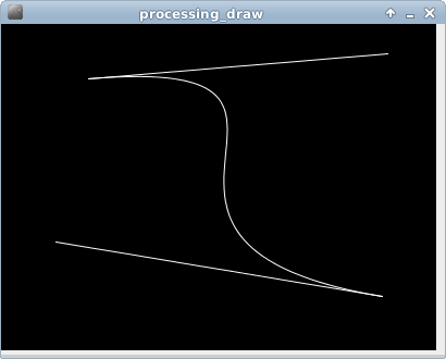 Processing example: bezier()