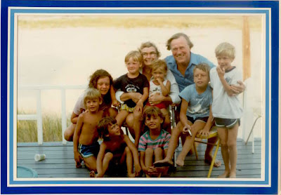 Alice and Arnold along with their grandchildren and a few more of the kids.
