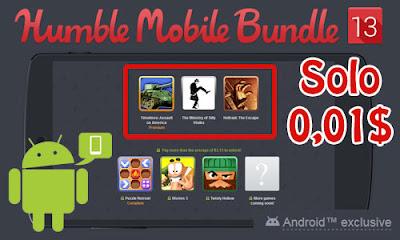 Nuevo pack de juegos para Android, por solo 1 céntimo de dólar podemos conseguir 3 juegos.