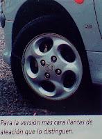 llanta acleacion Peugeot 206 xs 1.6