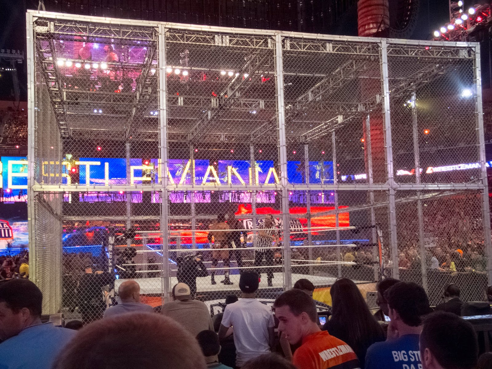 WrestleMania 28 Hell in a Cell Match photos