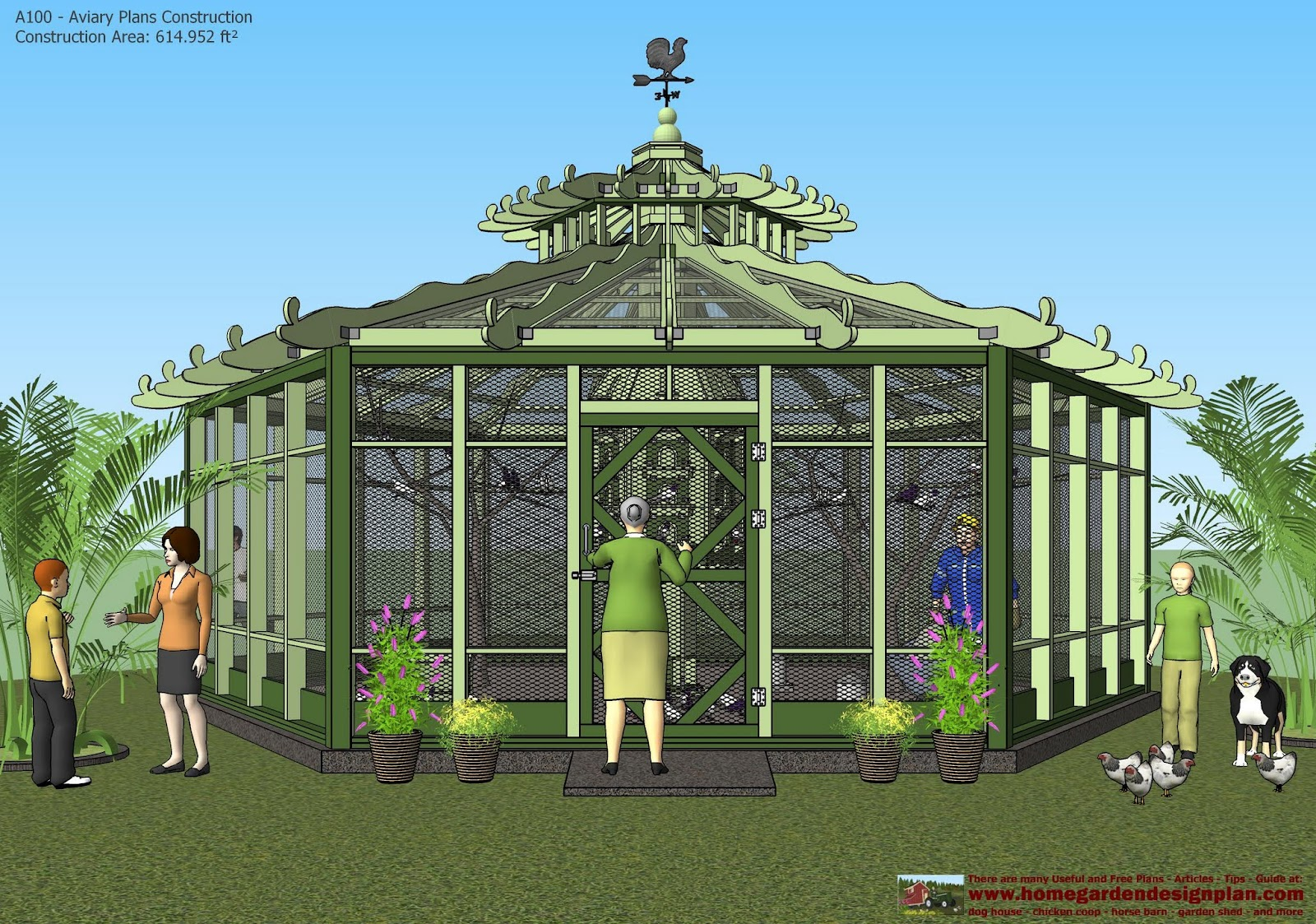 Home garden plans a100 aviary plans construction for Building a quail house