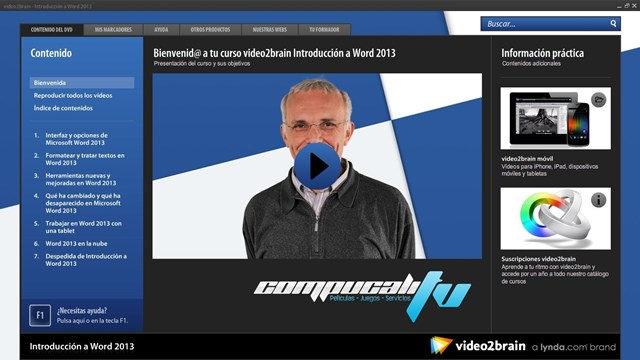 Curso VIDEO2BRAIN Introducción a Word 2013