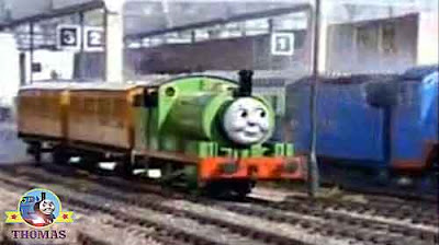 Sodor main Knapford station big Gordon express Thomas the tank engine and Percy the green engine