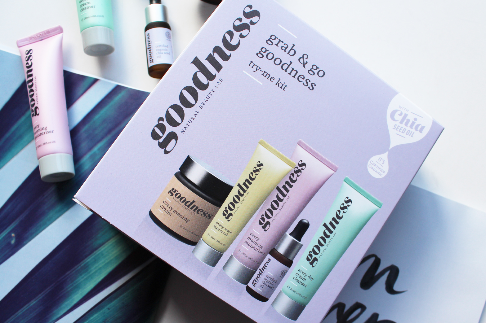 GOODNESS PRODUCTS | Grab & Go Goodness Try-It Kit Skincare Review - CassandraMyee
