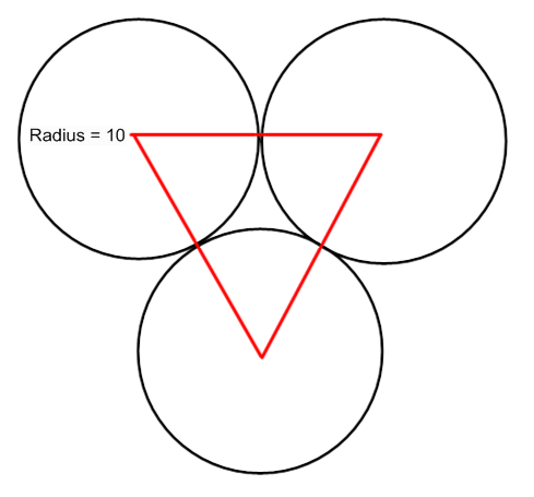 Math arguments 208 three questions consider the following diagram from the sat in which the identical circles are tangent to each other and the vertices of the triangle are the centers of the ccuart
