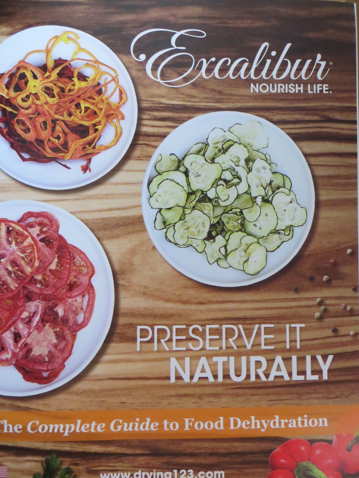 Excalibur, preserve it naturally, complete dehydration food guide.