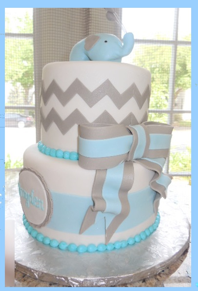 Blue Elephant Baby Shower!