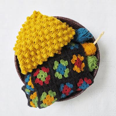 ByHaafner, crochet, scarf, cowl, bobble stitch, granny square