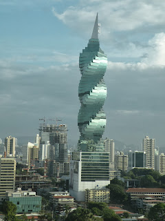 Panama City's skyscrapers include the F&F Tower. Photograph by Janie Robinson, Travel Writer