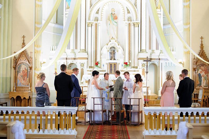 vestuvės Alantos Šv. apaštalo Jokūbo bažnyčioje