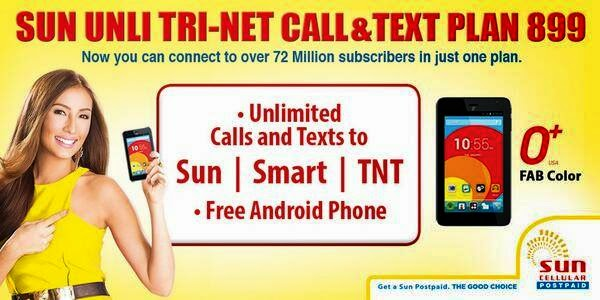 O+ Fab Color Tablet now Free at Sun Cellular TRINET Plan 899