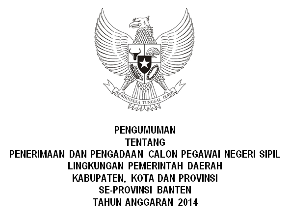 List Pengadaan CPNS SeProvinsi Banten