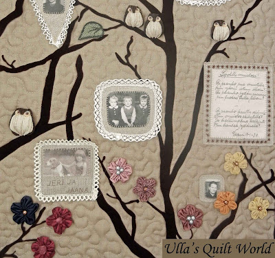 how to make a family tree quilt with photos