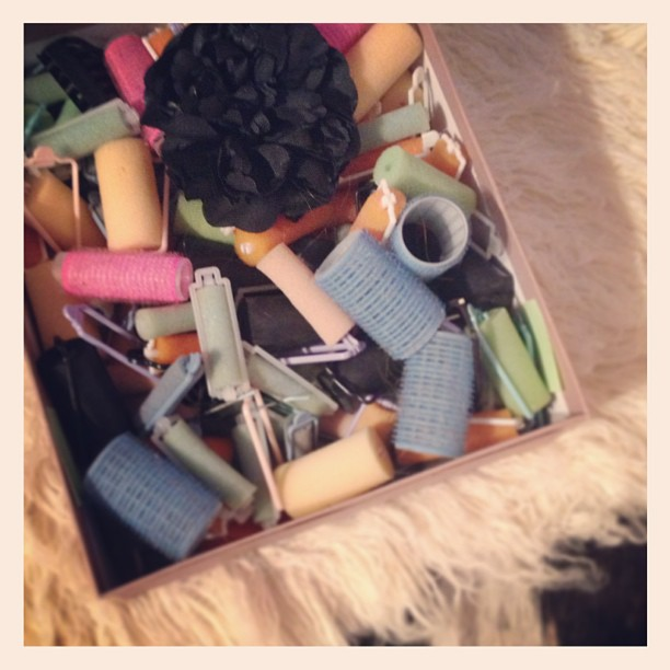 box of curlers