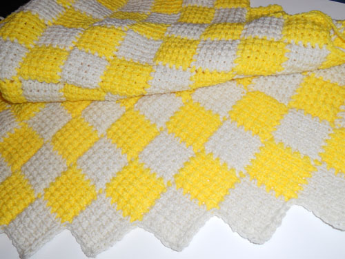 Nice Entrelac Crochet Baby Blanket Patterns Free Pattern - Easy ...