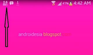 Aplikasi Android untuk menampilkan kecepatan Internet Pada Status Bar