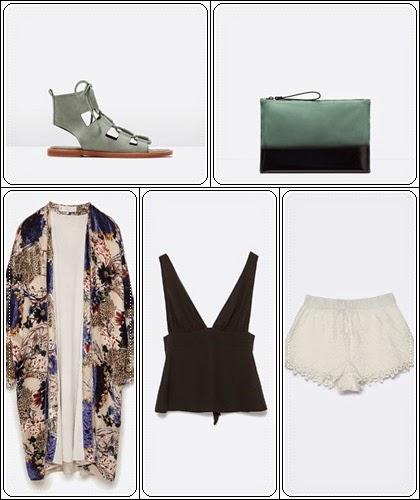 Conjunto Quimono poncho da Zara verão 2015