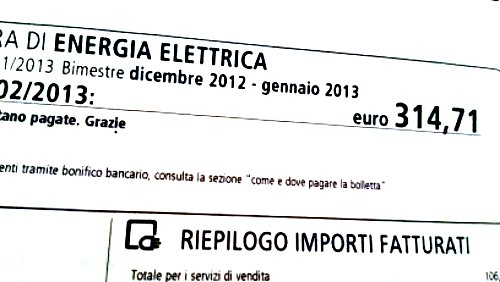 Bolletta Elettrica