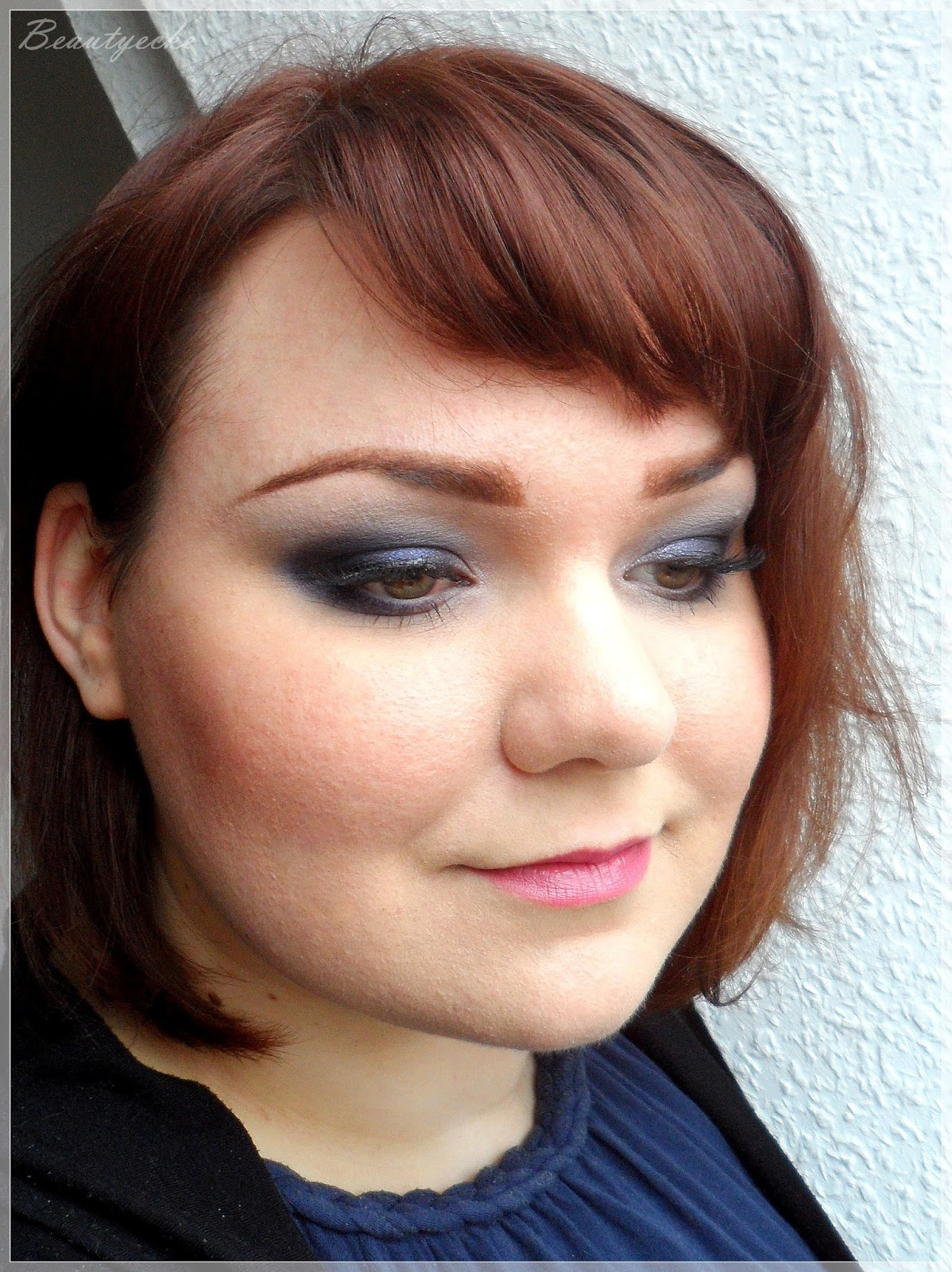 Beautyecke wir schminken herbstfr chte blau blau - Smokey eyes blau ...
